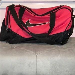 Pink Nike gym bag